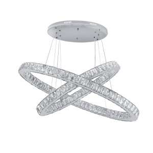 CHANDELIER LED GLOSSY 96W/400K CHROME