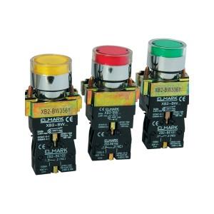 BUTON REVENIRE CU LED 220V EL2-BW3471 NO GALBEN