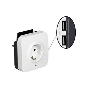 PRIZA SCHUKO 3680W +2 USB 1A/5V